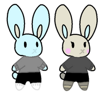 [closed] 0/2 bunny adoptables by Violeta-Adopts