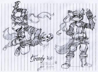 Trendy Foxxo-The Treasure Hunter by Burn-Graphite