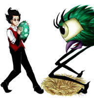 Don't starve: Tallbird's egg by Discarbia