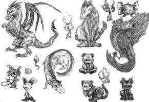Quick Childhood Sketches by yeaka