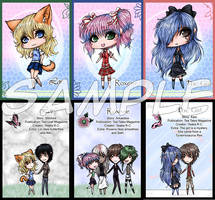 Tea Tales Trading Cards by yeaka