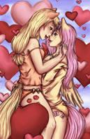 Appleflies and Hearts by yeaka