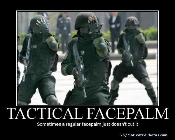 Tactical Facepalm by ShadowGod55563