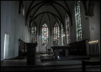 Kirche St. Agnes in Hamm (HDR) by skywalkerdesign