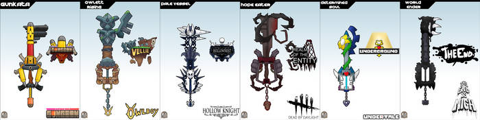 Keyblade Cards - Indie Set One by IronClark