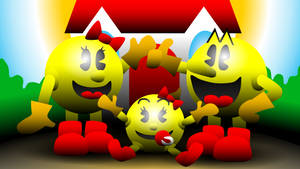 The Pac-Family of Pac-Land by AshumBesher