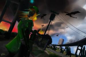 dragon attack [concept] by SgtDelta