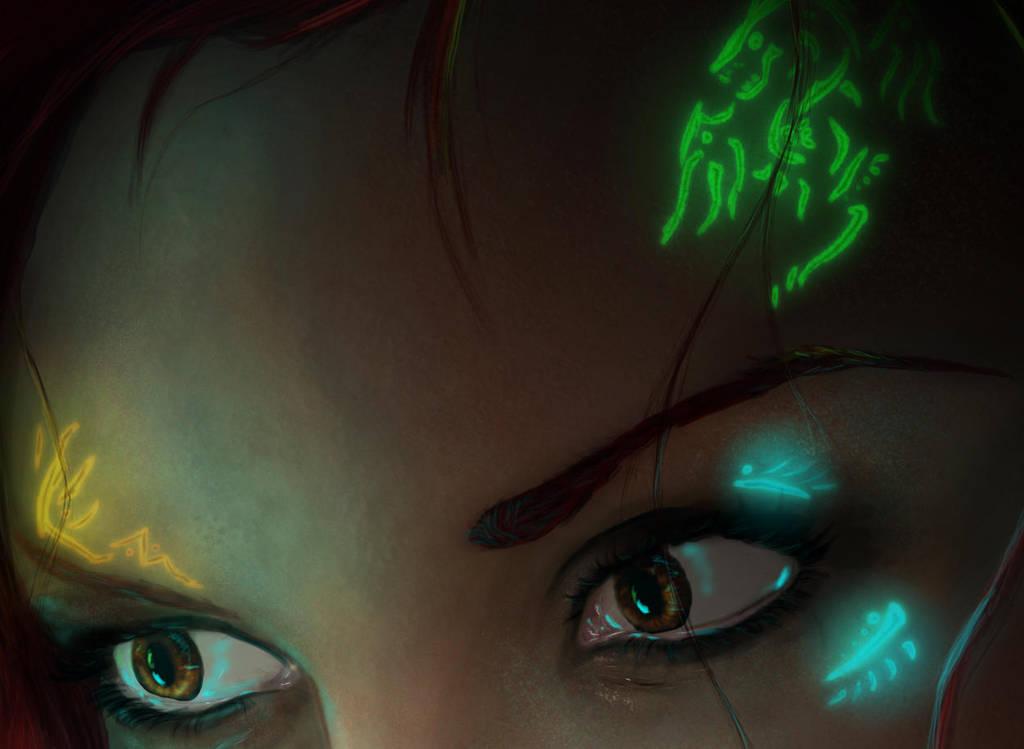Aurora's Eyes - detail by para-vine