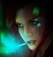 Aurora's Cigarette close up by para-vine