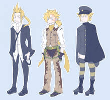 Len Kagamine Outfits by LauraArtiss