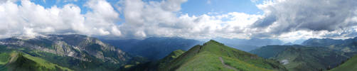 French Alps Panorama by dbestarchitect