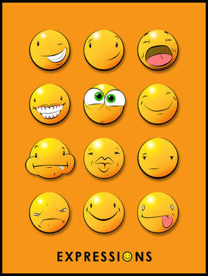 Expressions of a Yellow Dot by claycox