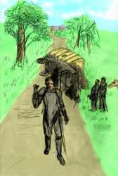 wagon on the way toCatfish inn by shiktang