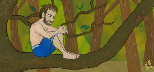 Man On Tree by jarvworld