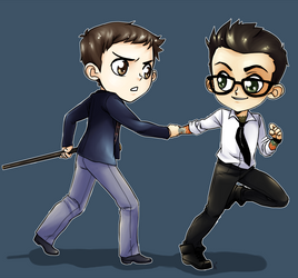 Newt and Herm for Toasty by KotoriK