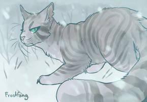 Warrior Cats Oc - Frostfang - Redraw by Spookapi
