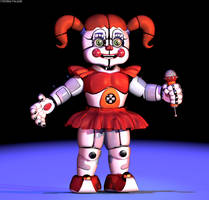 C4d | Circus Baby - Extras Render by The-Smileyy
