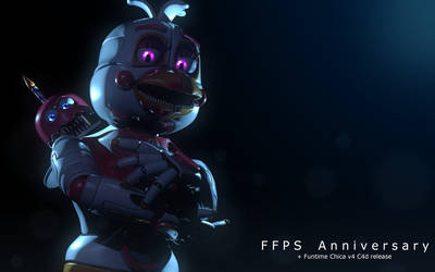 Happy Anniversary FFPS + Funtime Chica v4 DL! by The-Smileyy