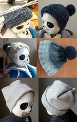 hats for a tiny bone boy by frostious