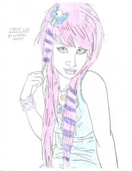 Scene Girl by PhantomWolfBlood77