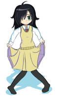 Tomoko Kuroki from Watamote by Contny