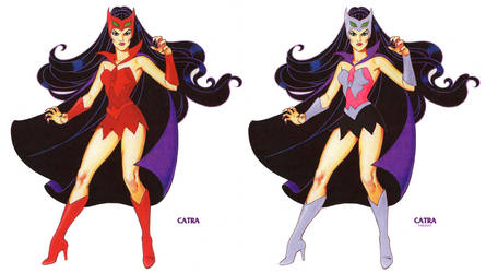 Catra - She-Ra cartoon and toy versions by LordGalvatron