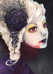 Black Hydrangea by KiwiChameleon