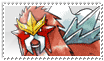 Entei Stamp by ice-fire