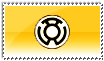 Sinestro Corps Stamp White by ice-fire