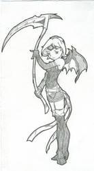 Scythe Girl by ice-fire