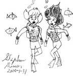 Aqua-Penny and Aqua-Atsuko 8 by stephdumas