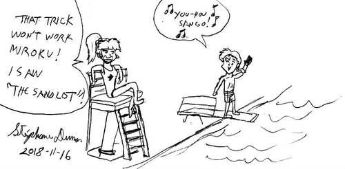 Sango as a lifeguard by stephdumas