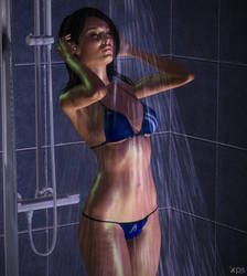 Ashley Williams in the shower by ToshiieKyoko