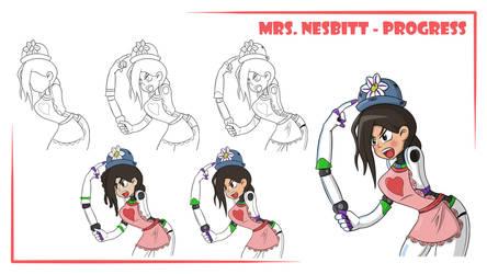 Commission: MrsNesbit Avatar (Progress) by Flatty93