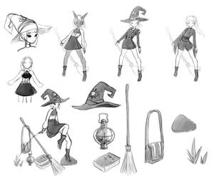 Witchy sketches by justineski