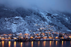 Evening on mountain side town by citrina