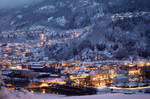 Evening on mountain side town 2 by citrina