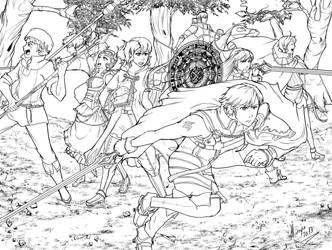 Fire Emblem awakening: Line art by Minaya