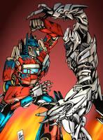 Movie Optimus vs Megatron by PowermasterJazz