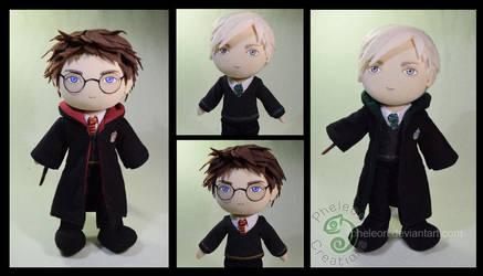 Harry Potter and Draco Malfoy by pheleon