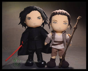 Rey and Kylo Ren: The Last Jedi by pheleon