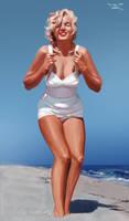Marilyn Monroe by linkofholland
