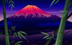 Sunset at Mt. Fuji by MissNysha