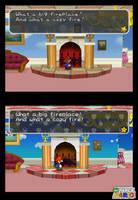 New Paper Mario Screenshot 028 - Peach's fireplace by Nelde