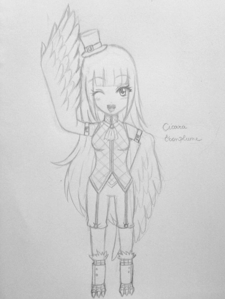 Ciarra Ebonplume sketch by Juliana1121
