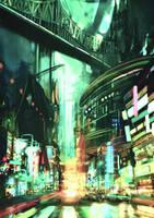 City speedpaint #1 by outstarwalker