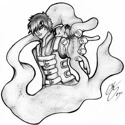 Pencil Gaara by finialwing10