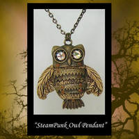 Owl Pendant Steampunk by KabiDesigns