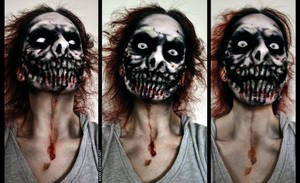 Makeup: Jeff the Killer by Khdd