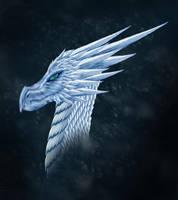 ice dragon head by dakuness